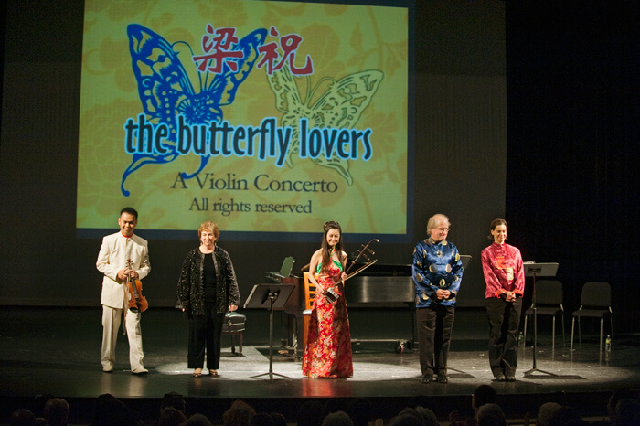 """New Butterfly Lovers"" Multimedia concerto for family concerts"